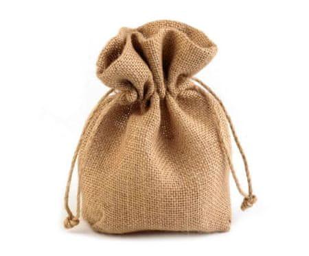 Kraftika 1pc természetes zsákvászon jutazsák táska, szatén, pamut