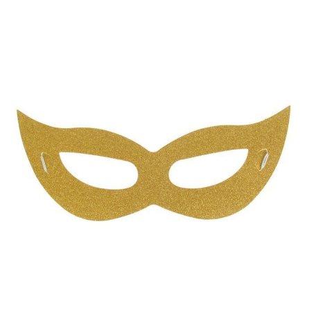 """Kraftika 6 db, karneváli maszk """"stranger"""", arany szín"""
