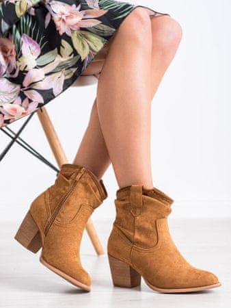 Női bokacipo 68233 + Nőin zokni Sophia 2pack visone, bézs és barna árnyalat, 39