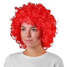 Kraftika Karneváli paróka, terjedelmes, piros színű