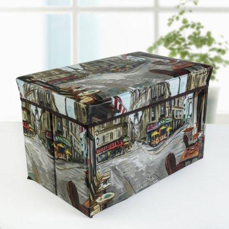 """Kraftika Pudełko do przechowywania z pokrywką """"paryż w farbach"""""""