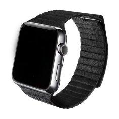 SAMURRAI kožený magnetický řemínek na Apple Watch - černý - 38 / 40 mm