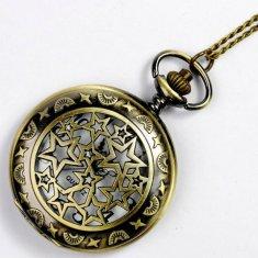 Daklos Kapesní retro přívěskové hodinky s hvězdičkami