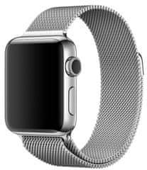 SAMURRAI nerezový ocelový řemínek na Apple Watch - Silver - 38 / 40 mm