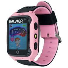 Helmer Chytré dotykové hodinky s GPS lokátorem a fotoaparátem - LK 707 růžové