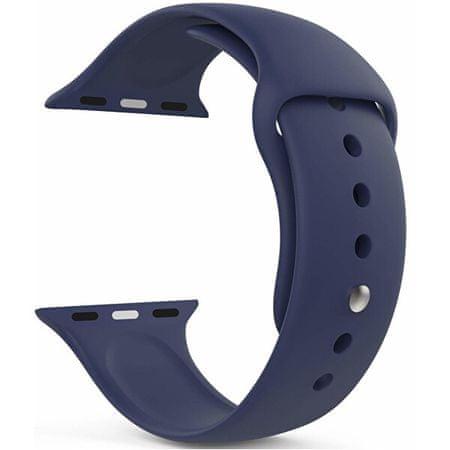 4wrist Szilikon szíj Apple Watch - Sötétkék 42/44 mm - M/L