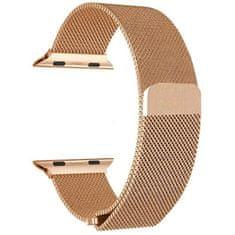 4wrist Ocelový milánský tah pro Apple Watch - Růžové zlato 38/40 mm