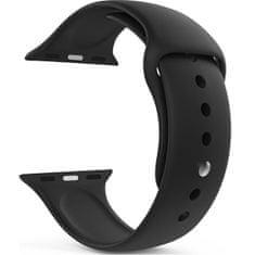 4wrist Silikonový řemínek pro Apple Watch - Černý 38/40 mm - S/M