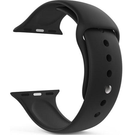 4wrist Szilikon szíj Apple Watch - Fekete 42/44 mm - S/M