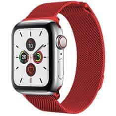 4wrist Ocelový milánský tah pro Apple Watch - Červený 42/44 mm