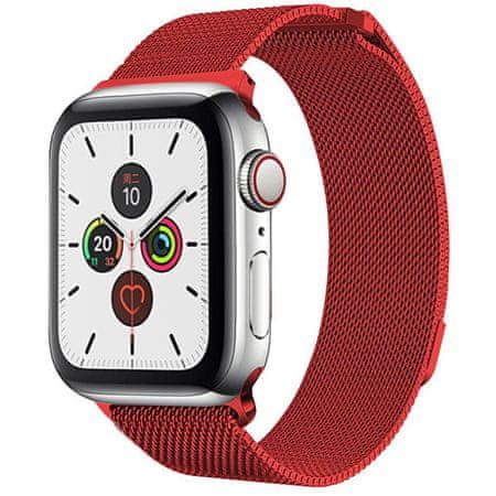 4wrist Milánói acél szíj Apple Watch - Piros 38/40 mm