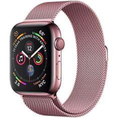 4wrist Ocelový milánský tah pro Apple Watch - Růžový 38/40 mm