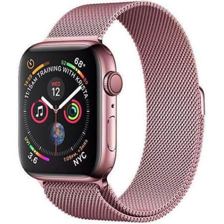 4wrist Milánói acél szíj Apple Watch - Rózsaszín 42/44 mm