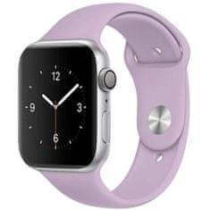 4wrist Silikonový řemínek pro Apple Watch - Světle fialový 38/40 mm - S/M