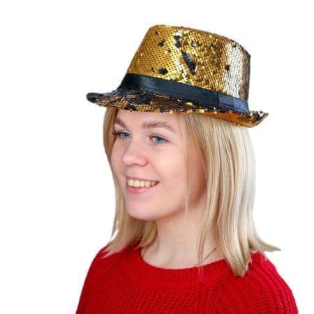 """Kraftika Carnival hat """"czyszczenie"""", z cekinami, kolor złoty"""