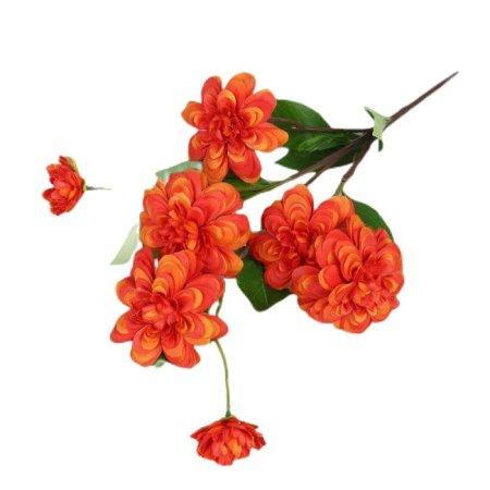 """Kraftika Kwiaty sztuczne """"dalia terry"""" 8 * 66 cm, pomarańczowy"""