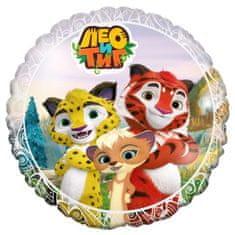 "Flexmetal 5 ks, fóliový balónek 18 ""leo a tig"", kruh"