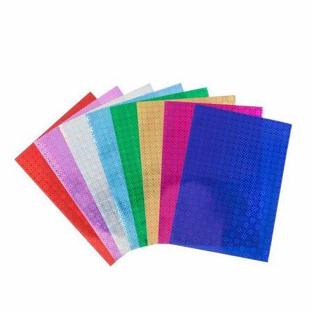 """Kraftika Színes holografikus papír """"minták"""" а4, 8 db, mix 80 g/m2"""