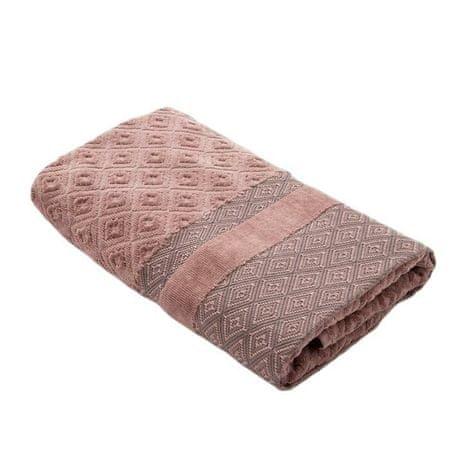 Kraftika Ręcznik frotte col. brązowy