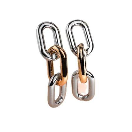 """Kraftika Fülbevaló fém """"lánc"""" keskeny link 3pc, színes ezüst-arany"""