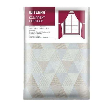 Kraftika Függöny absztrakció 135x180 cm, bézs, pe 100%