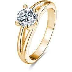 Beneto Srebrni prstan s kristali AGG199 srebro 925/1000