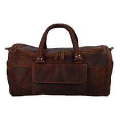 Green Wood Velká kožená cestovní taška Odilon Green Wood, hnědá