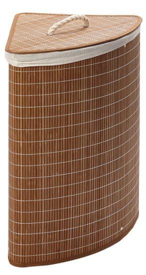 Bambusový koš na prádlo rohový