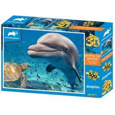 Animal Planet sestavljanka 3D - delfini, 500 kosov, 61x46 cm