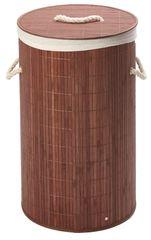 Bambusový koš na prádlo kulatý