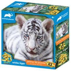 Animal Planet sestavljanka 3D - beli tiger, 63 kosov, 31x23 cm