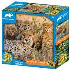Animal Planet sestavljanka 3D - gepardi, 100 kosov, 31x23 cm