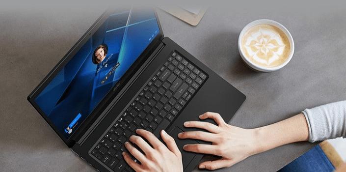 Notebook Acer Extensa 215 displej intel Core i3 kancelář domácnost cestování ergonomie