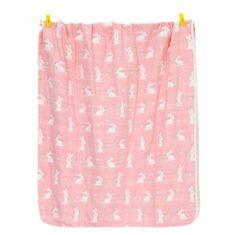 Kraftika Takaró könnyű morzsa i nyuszi rózsaszín 105 * 108 cm