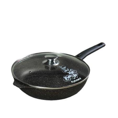 Kraftika Pan d = 26 cm, kivehető fogantyú, üveg fedél