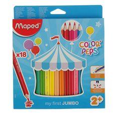 Maped Ołówki trójdzielne 18 kolorów
