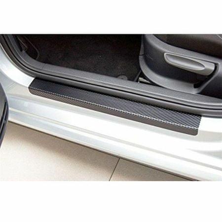 Kraftika Folia ochronna na progu auto, carbon, 60x7 cm, 40x7 cm