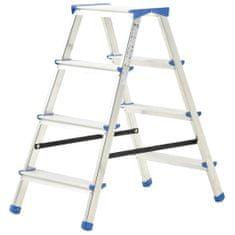 shumee 4-stupňový hliníkový obojstranný rebrík 90 cm