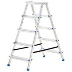 shumee 5-stupňový hliníkový obojstranný rebrík 113 cm