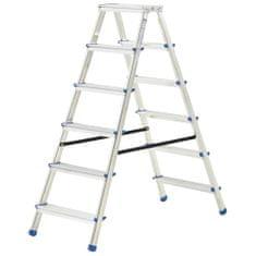 shumee 6-stupňový hliníkový obojstranný rebrík 136 cm