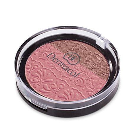 Dermacol DUO paletka z wytłoczoną koronką(Duo Blusher) 8,5 g (cień č.4)
