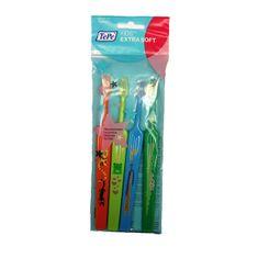 Tepe Extra jemný dětský zubní kartáček Kids ZOO (Extra Soft) 4 ks