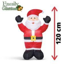 Family Christmas Napihljiv božiček – 120 cm – IP44 – 1 LED – 230V