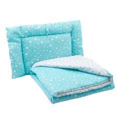 Edelweiss Állítsa be a kiságy (takaró, párna), szürke / türkiz színű