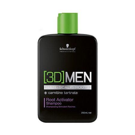 Schwarzkopf Prof. 3D šampon za aktivacijo moških (Root Activator Shampoo) (Obseg 250 ml)