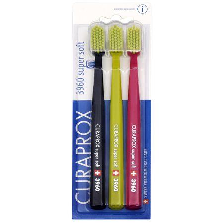 Curaprox Extra puha sörtéjű fogkefe 3960 Super Soft 3 db