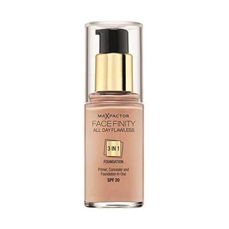 Max Factor Hosszan tartó smink Facefinity 3 az 1-ben (Hibátlan egész nap) 30 ml (árnyalat 77 Soft Honey)