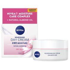 Nivea Výživný denní krém pro suchou pleť SPF 8 24H Moisture (Nourishing Day Cream) 50 ml