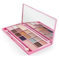 I Heart Revolution Paletka očních stínů Pink Fizz (Chocolate Eyeshadow Palette Pink Fizz) 22 g