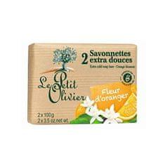Le Petit Olivier Extra jemné mydlo Pomarančový kvet (Extra Mild Soap Bars) 2 x 100 g